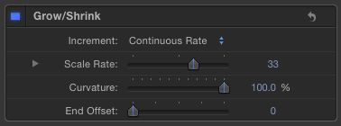 You'll have to cover an entire object with the Grow-Shrink behavior, then change the End Offset value if you want it to stop shrinking early.