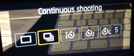 On a Canon EOS, this is what the option looks like