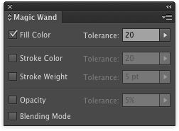 Here's that well-hidden Magic Wand settings panel