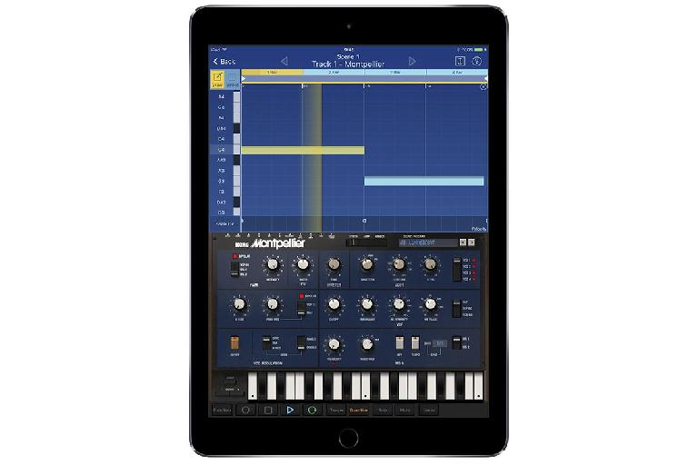 Korg iMono/Poly in Gadget for iOS