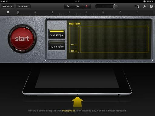 The recording interface