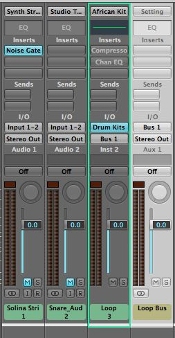 The software instrument track connected via a bus to an aux track - this will be muted