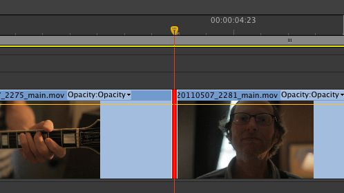 Rolling Edit. If you shorten one clip, the other becomes longer.