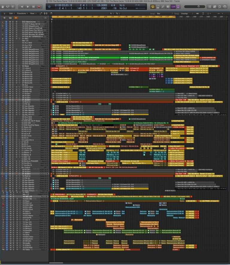 Fig 1 A typical modern arrangement, with tons of layered and doubled tracks