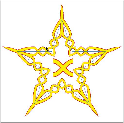 The image imported in the center became the Pattern Brush used on the star around it.