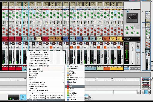 (Pic 5) Collapsing and coloring various tracks.