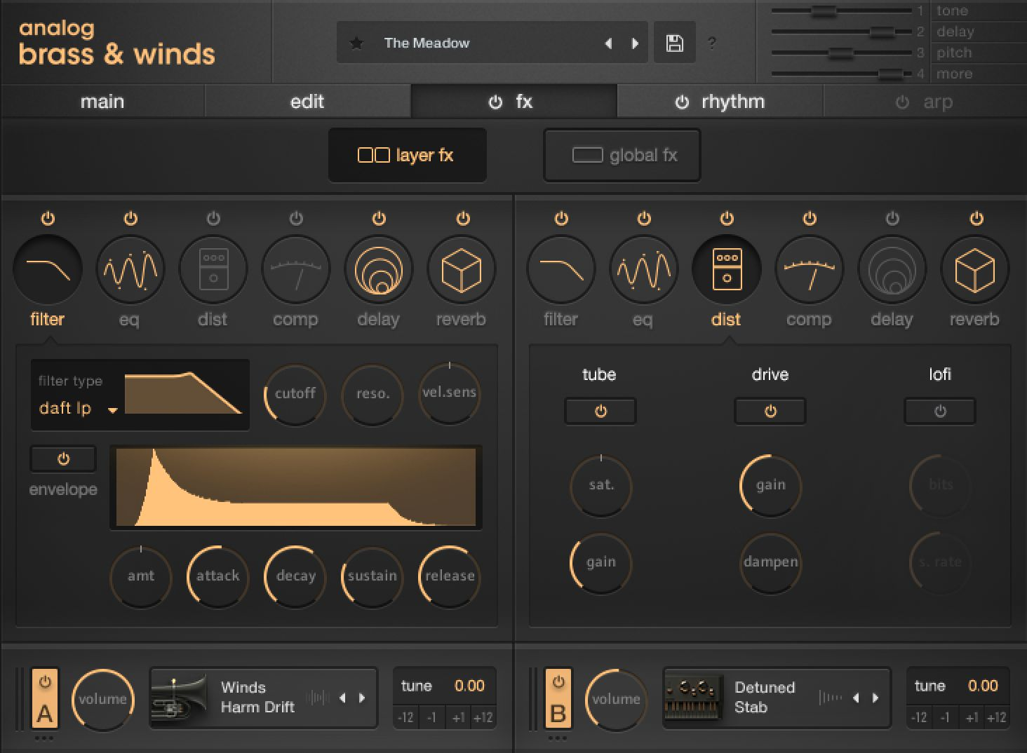 Output Analog Brass & Winds GUI