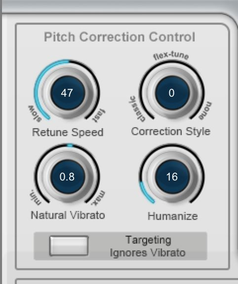 Pitch Correction Control