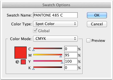 Heres Pantone 485 C, according to Illustrator CS5.