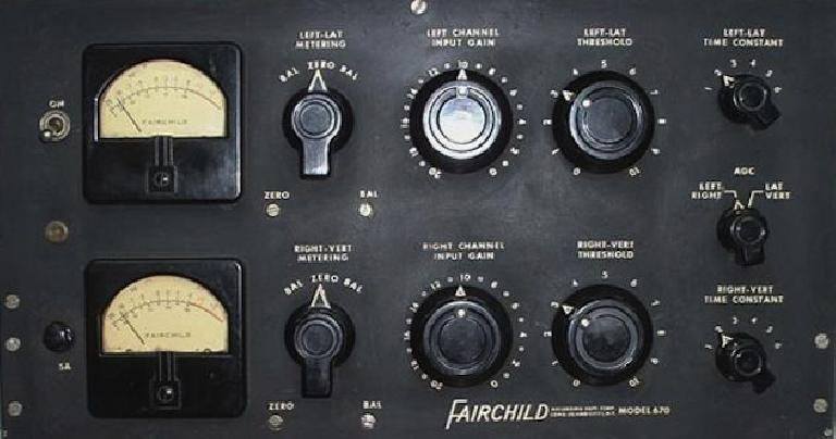 Fig 3 A Fairchild 670—6 rack spaces of analog magic