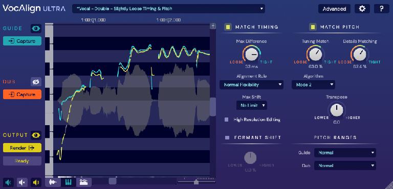 Vocalign Ultra GUI