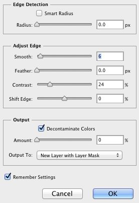 Refine Edge Settings