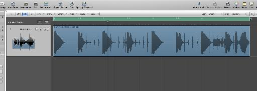And imported into a new audio track