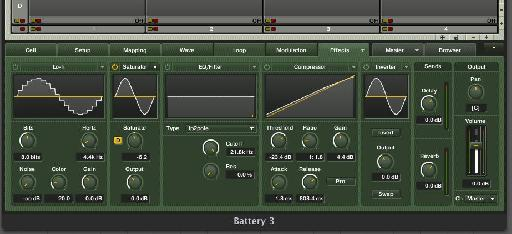 Battery's insert effects section