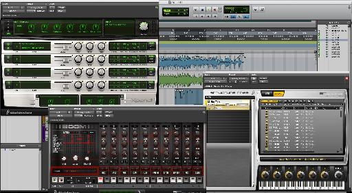 Instruments and effects in Pro Tools 9