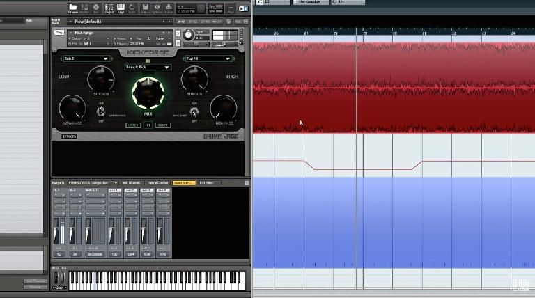 Kickforge in action in Cubase.