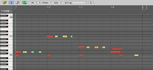 16th note fill with flam at end