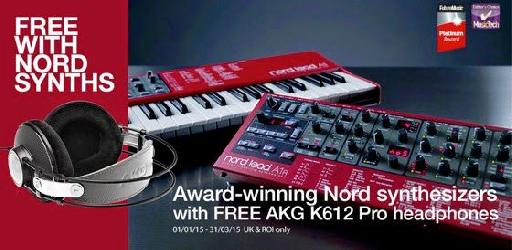 Free AKG headphones with award-winning Nord synthesizers until 31 March 2015