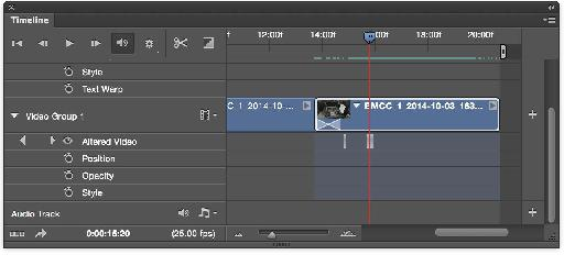 As you work, you'll create 'Altered Video' keyframes.