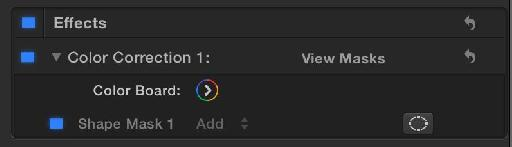Add the Color Correction filter, or just press Command-6 to get access to the Color Board.