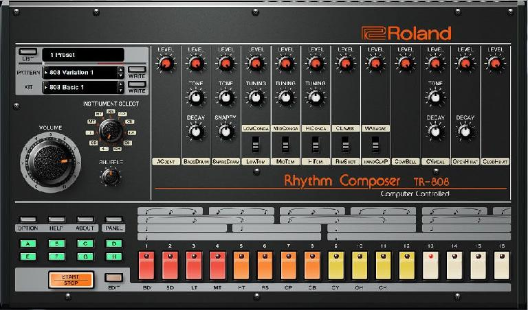 Roland TR-808 official software plug-in.