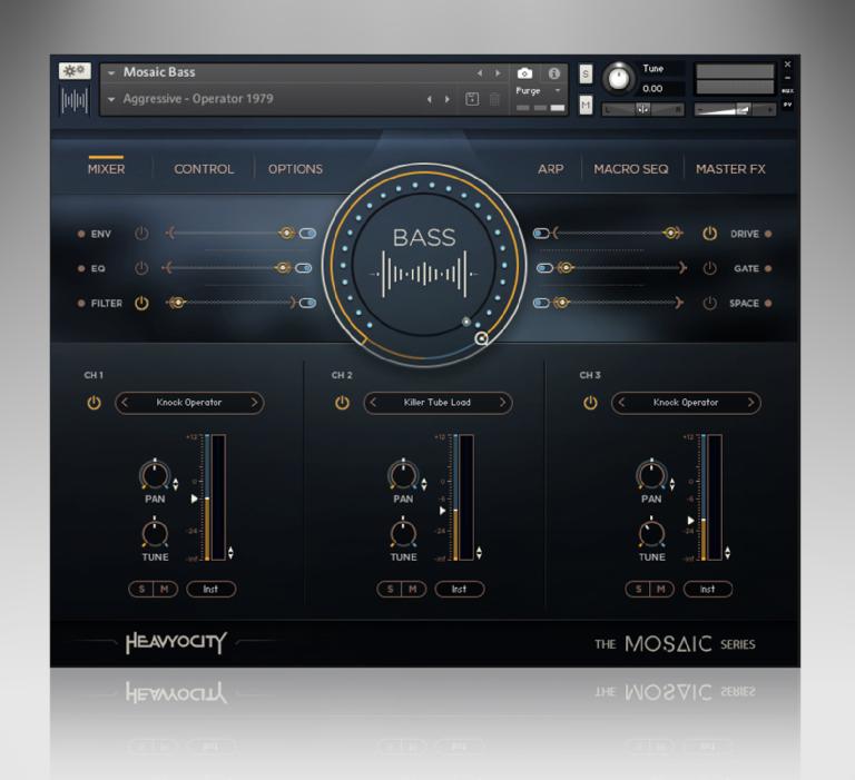 Heavyocity Mosaic Bass Mixer FX