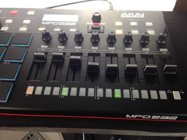The Akai Pro MPD232 sequencer.