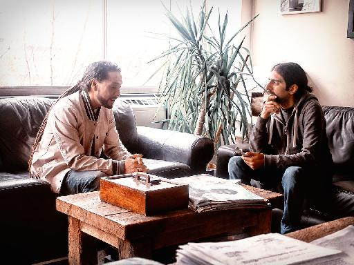 Roni Size being interviewed by Rounik Sethi. (Photo: Anna)