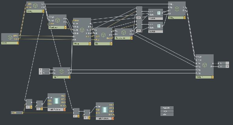 Macros and modules in Reaktor 6.