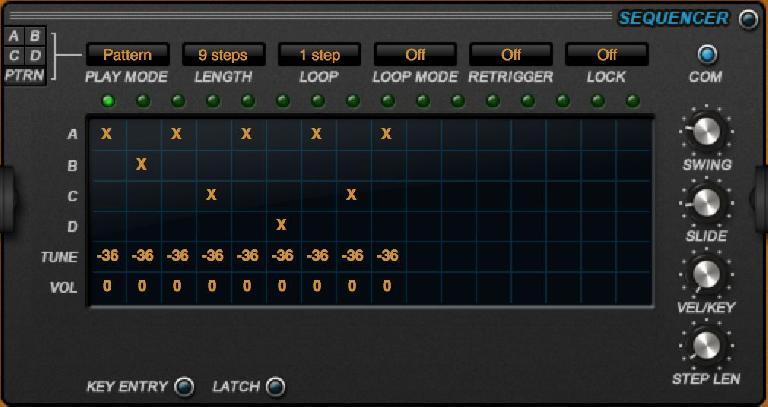 The new sequencer Pattern mode.