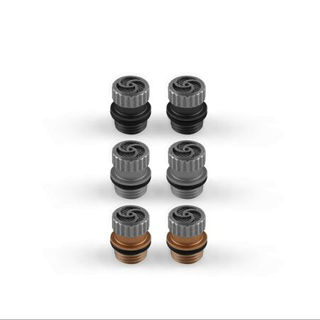 Three pairs of tuning filters let you tailor the physical output of the earphones