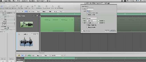 Making a fresh audio track ready for our export