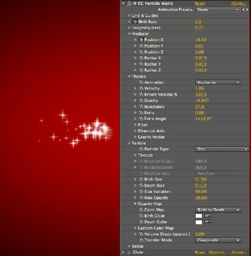 Star particle settings