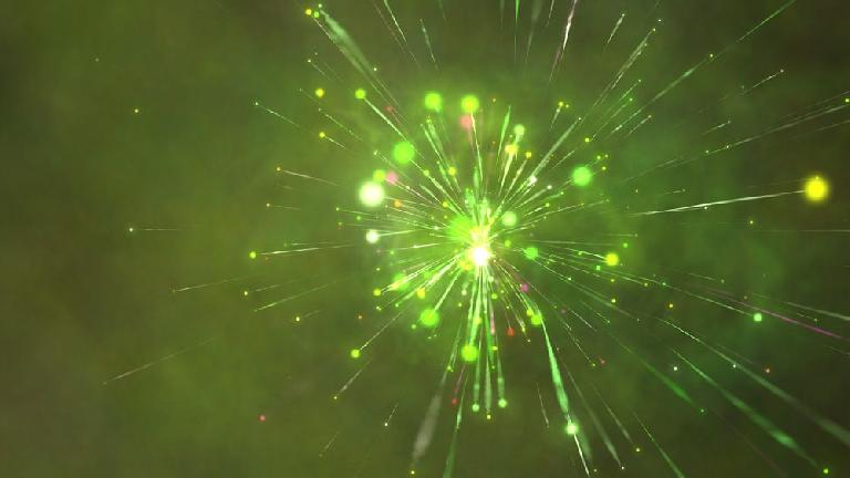 Just one still from the iTunes Visualizer.