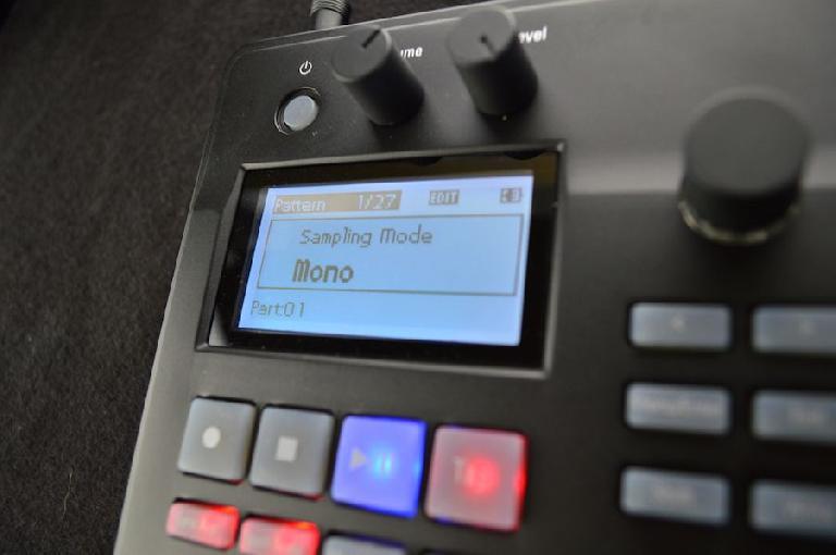 Korg Electribe Sampler screen