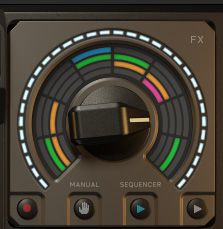 Pic 4 On the right is a rotatory knob where you can switch between different effects by rotating through the different settings.