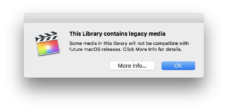 You may see this warning if you open and update an older library — get ready