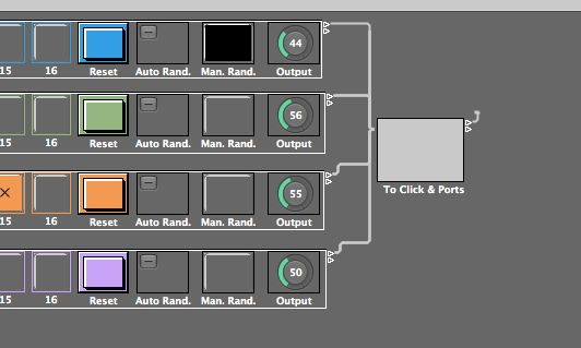 The Output of all Step Sequencers must be routed to a Software Instrument Channel Strip or the Sequencer object on the Clicks & Ports Layer.