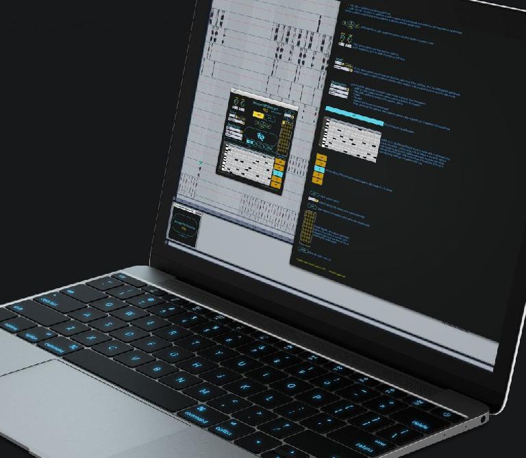 Random Riff Generator Pro in Ableton Live on MacBook Pro.