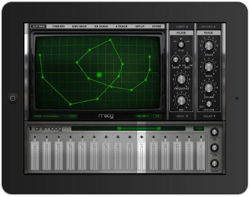Animoog running with Guided Access.