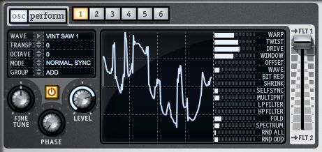 Pic 2. Sculpt new waveforms to taste by clicking and dragging.
