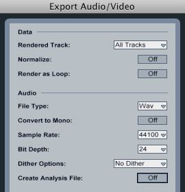 Export all tracks in Ableton