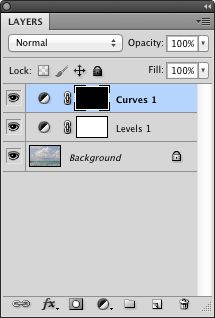 Layers panel with curves disabled
