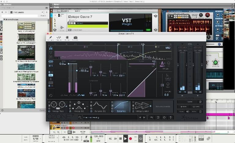 Mastering with Ozone inside Reason