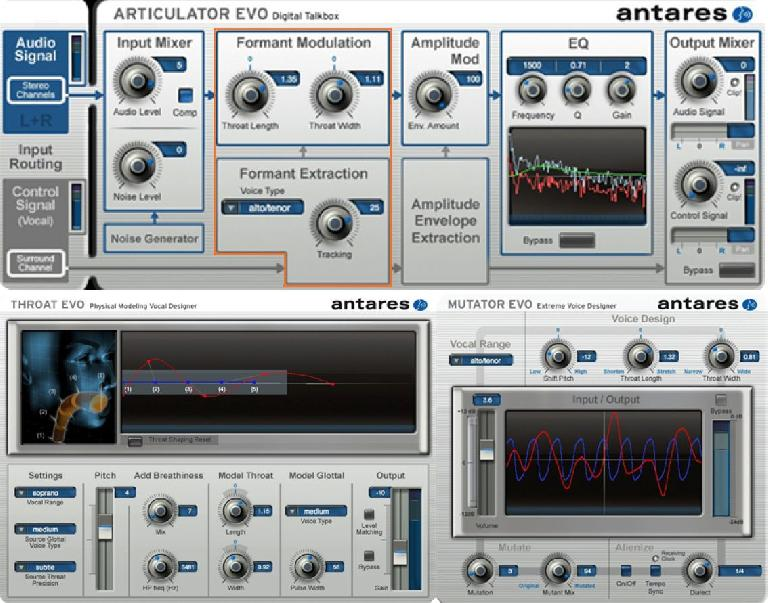 Some of Antares' creative pitch processors