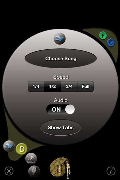 The slow-down features for song playback is very useful!