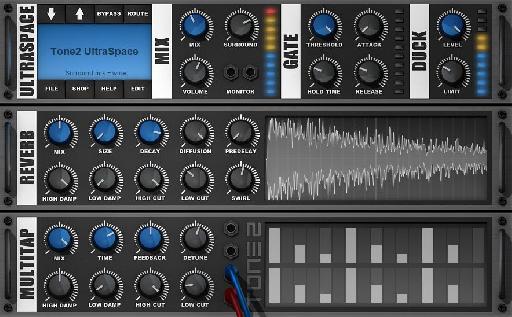 Tone2 AudioSoftware's UltraSpace interface.