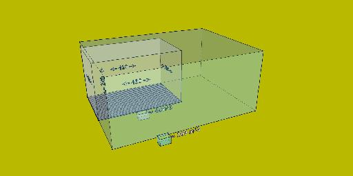 Fig 5: Comparing volumes of  a small and a theoretically ideal room.
