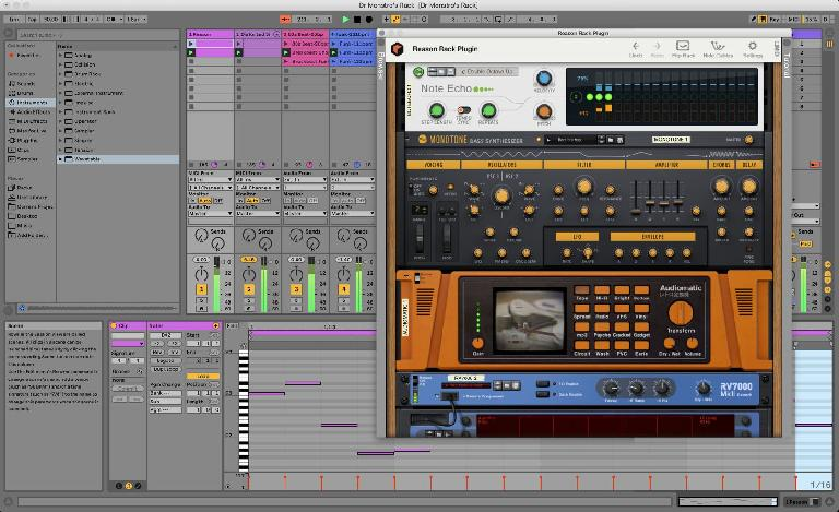Reason 11 as a plugin inside Ableton Live 10.