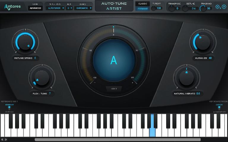 Auto-Tune Artist Advanced interface.